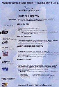 PEUPLE ET DES DEMOCRATIES ALGERIENS 1996