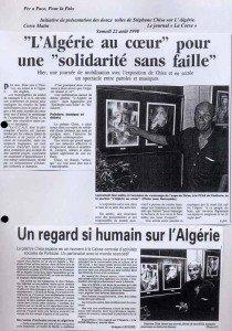 L'ALGERIE PERAPACE 22.08.98